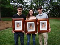 My triplets turned 18 and I thought it was a good idea to get a photo of them holding their 1 year photo. Kind of like a then and now snap shot.