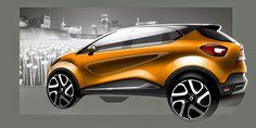 Captur Car Design Sketch, Car Sketch, Exterior Rendering, Exterior Design, Automotive Design, Auto Design, Toyota C Hr, Motorcycle Design, Car Drawings