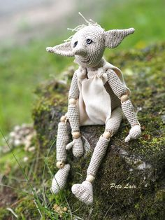 #Dobby #amigurumi #pattern For #Harry #Potter fan, #crochet #tutorial ENGLISH, e-book Pattern art doll, #plush toy elf, #monster #magic toy