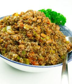 Spanish Quinoa #recipe like dishes with a little spice