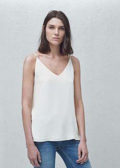 Top fluido alças - Camisas de Mulher | MANGO