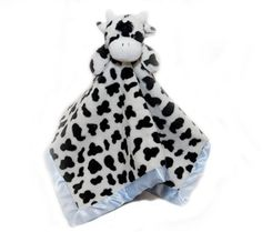 Baby Mio Baba Collection Lovey Blue Mooky The Cow Tag-a-Long Security  Blanket fe3d82d9e