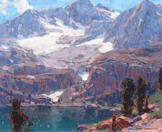 Edgar Payne 1883-1947 Sierra Lake 25 x 30 inches Oil on canvas
