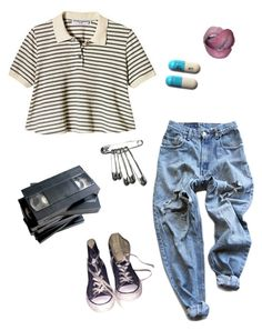 """""""i'm happy in my room"""" by thishazyheadofmine on Polyvore featuring Levi's, Converse and Peek"""