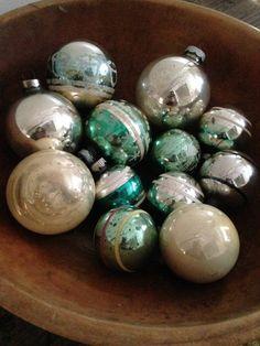 Who doesn't love vintage Mercury Christmas Bulbs by VintageRoseandLace
