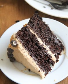 Chocolate and Peanut Butter Layer Cake (with cauliflower)