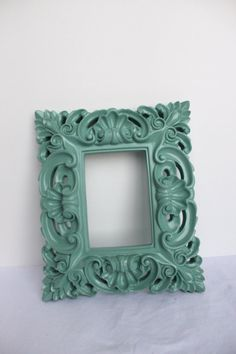 Ornate Baroque Mint Frame 9x11 by OnceUponaTimeFinds on Etsy, $30.00