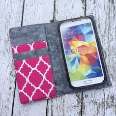 Samsung Galaxy S3 S4 S5 S6 S7 wallet with removable by BeulahVida