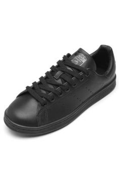 Tênis Couro adidas Originals Stan Smith Preto 08376ac9513c8