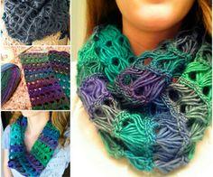 Broomstick Lace Infinity Scarf Crochet Pattern Video Tutorial - Hobbies paining body for kids and adult Crochet Scarves, Crochet Shawl, Crochet Stitches, Tunisian Crochet, Crochet Gratis, Diy Crochet, Easy Crochet Patterns, Knitting Patterns, Knitting Tutorials