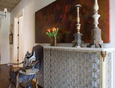 Terrific cover for the radiator - could be simpler or painted and it provides a shelf!