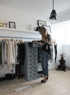 diy clothing rack walk in closet