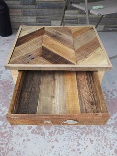 Pallet Nightstand with Drawer