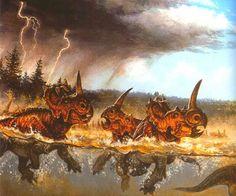 Monoclonius: Late Cretaceous (77 - 74.8 Ma): Marginocephalia (Ceratopsian): Discovered by Cope, 1877.