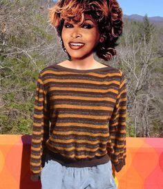vintage 70s sweater boatneck stripes preppy soft by skippyhaha