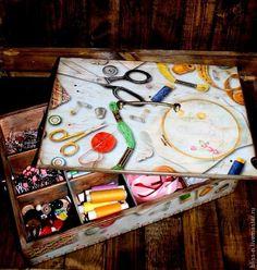Короб для рукодельницы - Ярмарка Мастеров - ручная работа, handmade