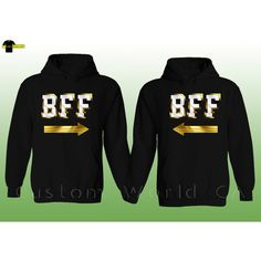 On Today Couple Hoodie Bff Best Friends Couple Matching Sweatshirts... ($36) ❤ liked on Polyvore featuring tops, hoodies, sweatshirts, dark olive, women's clothing, hoodie sweatshirts, hooded pullover, hoodies sweatshirts, hooded sweatshirt and sweatshirt hoodies