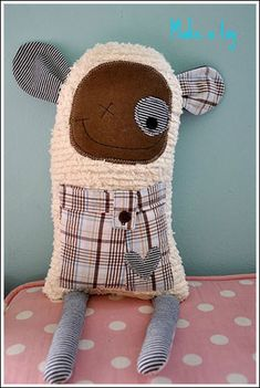 Soft Toy made from old baby clothes....cute keepsake as they get older