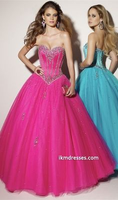 2015 Collection Tulle Red Blue Ball Gown Quinceanera Dresses Under 200 001
