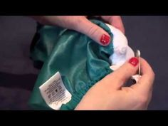 How to Replace Elastic in FuzziBunz One Size Elite Cloth Diaper - YouTube