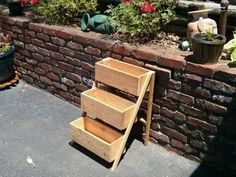 $12.00 Cedar Fence Picket Planter | Do It Yourself Home Projects from Ana White