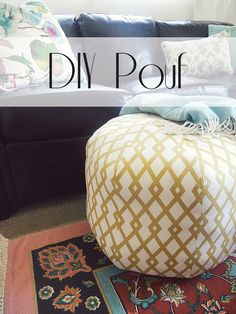 park west: DIY Floor Pouf--totally want to make this! Uses  BHG pattern, 2 yards fabric, 2 old towels (or similar, for stability) and 2-4 old pillows for stuffing!