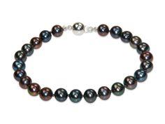 Lola - Peacock Black Pearl Bracelet