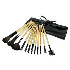 Xiong 12 Pcs Profession And Colourful Burlywood Set Cosmetic Brush