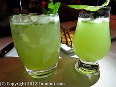 Tarragon cocktail & Mojito from Aziza, San Francisco, One Michelin Star