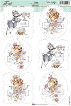 Wee Sylvia Zet die cut topper collection by the Hobby House - Posey