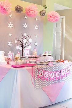 winter girl baby shower ideas Archives - Celebration Lane