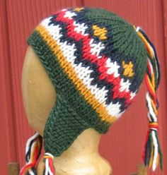 Ron's Animal Cracker Hat Free Knitting Pattern | Harry Potter inspired Knitting Patterns, many free knitting patterns | These patterns are not authorized, approved, licensed, or endorsed by J.K. Rowling, her publishers, or Warner Bros. Entertainment, Inc.