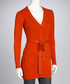 Take a look at this Orange Long Sleeve Duster by High Secret on #zulily today!