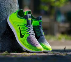 Nike Free Flyknit 4 0-Light Charcoal-Black-Volt