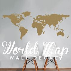 World map wall decal map decor map decal map sticker map world map wall decal travel wall decor map wall sticker wal a127 gumiabroncs Choice Image