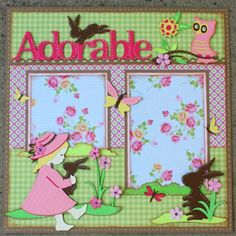 "Faith Abigail Designs: Stuck on U Sketches Design Team Post - ""Adorable Bunny"" Single Layout Baby Girl Scrapbook, Baby Scrapbook Pages, Kids Scrapbook, Scrapbook Sketches, Scrapbook Page Layouts, Card Sketches, Scrapbook Paper Crafts, Scrapbook Cards, Scrapbooking Ideas"