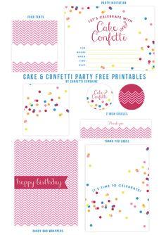 Free Confetti Party Printables