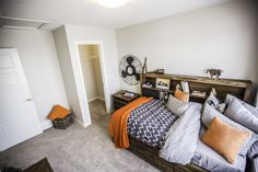 This boys room! Oak Park, New Home Builders, Perfect Boy, Custom Homes, Beautiful Homes, New Homes, Bed, Room, Furniture