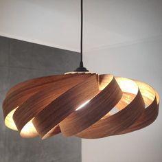 Furnier Lampe echtes Holz Design von designityourselfDE auf Etsy