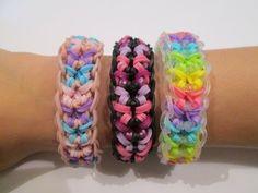 Rainbow Loom- How to make a Butterfly Confetti Bracelet (Original Design)