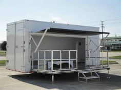 Portable stage trailers for bands, fairs, and event performance, transporting the gear, and with a custom graphic wrap it doubles as an exhibit trailer for promotions >> Portable Stage Trailers --> www.customtrailersusa.com/stage-trailers