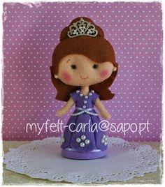 My Felt: E por aqui fazem-se princesas...
