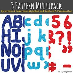This Pattern Multipack includes copies of the Uppercase Alphabet, Lowercase Alphabet, and Numbers & Punctuation motif patterns. You can use the finished motifs for appliqué on pillows, blankets, banners, garland…or sew two letters together for a cute 3D stuffie. Finished pieces are approximately 4 inches tall by 3.5 inches wide.
