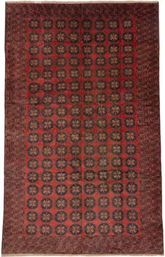 """$921 - 8'1"""" x 12'8"""" - Hand-knotted Royal Balouch Dark Navy, Red Wool Rug"""