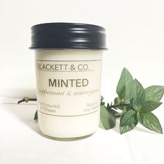 "BLACKETT & CO. MINTED sharp wintergreen and sweet peppermint create an uplifting and bright scent - the perfect ""pick me up"". 
