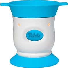 Blue Razz Pedestal Velata Fondue Warmer  This lovely warmer is accented by a perfect pop of blue.  Warmer price includes 4 forks.  $40.  Purchase at www.bonniebuckhalt.velata.us
