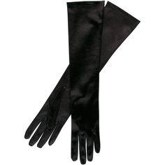 John Lewis Satin Evening Gloves (110 VEF) ❤ liked on Polyvore featuring accessories, gloves, black, luvas, black evening gloves, satin evening gloves, john lewis, black gloves y black satin gloves