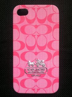 Coach Hot Pink iPhone 4 Hard Back Case!