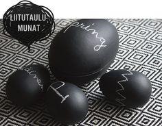 DIY chalkboard painted eggs