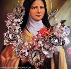 Catholic St Therese, Saints Religious Medals Charm Handcrafted Bracelet